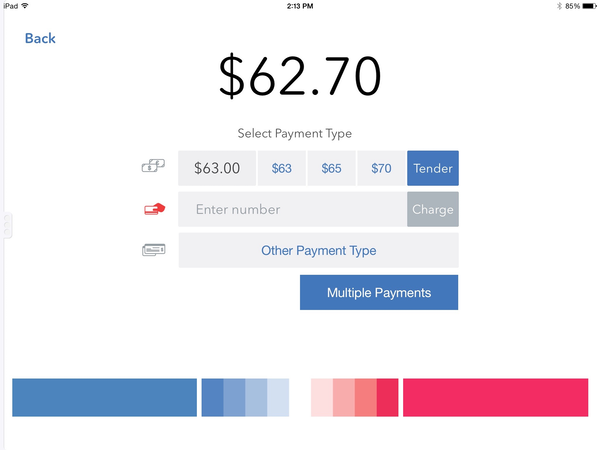 Multiple payment types