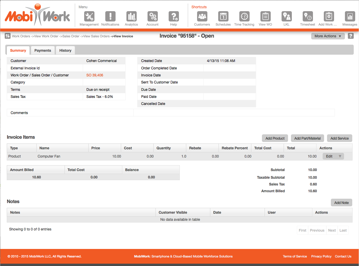 Invoice Web View