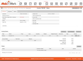 Invoice Web View