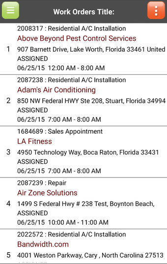Route Work Order Device View