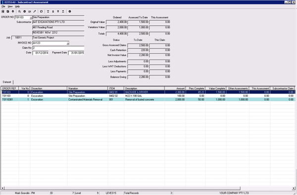 Subcontractor tracking