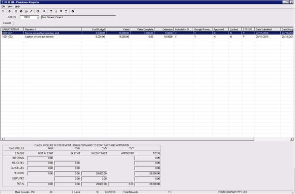 Variation Register