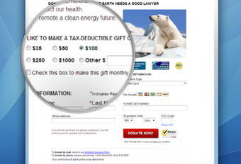 Tax deductible gift
