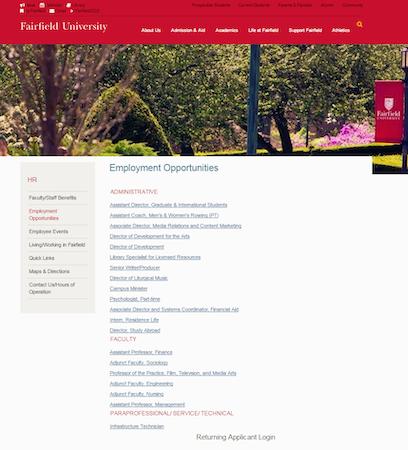Branded Higher Education Career Site