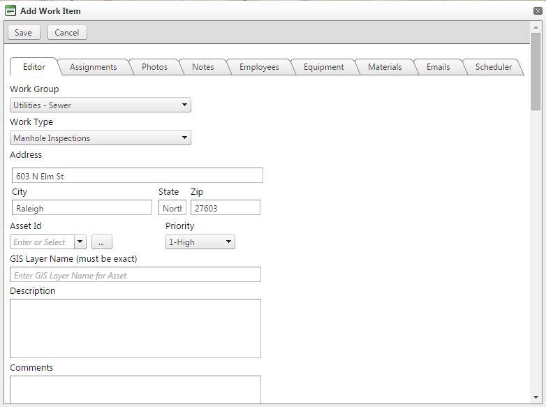 Work Order Form (Desktop/Tablet)