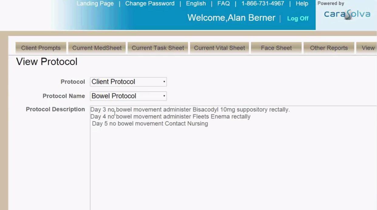 Protocol page