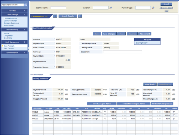 Financial Software Module