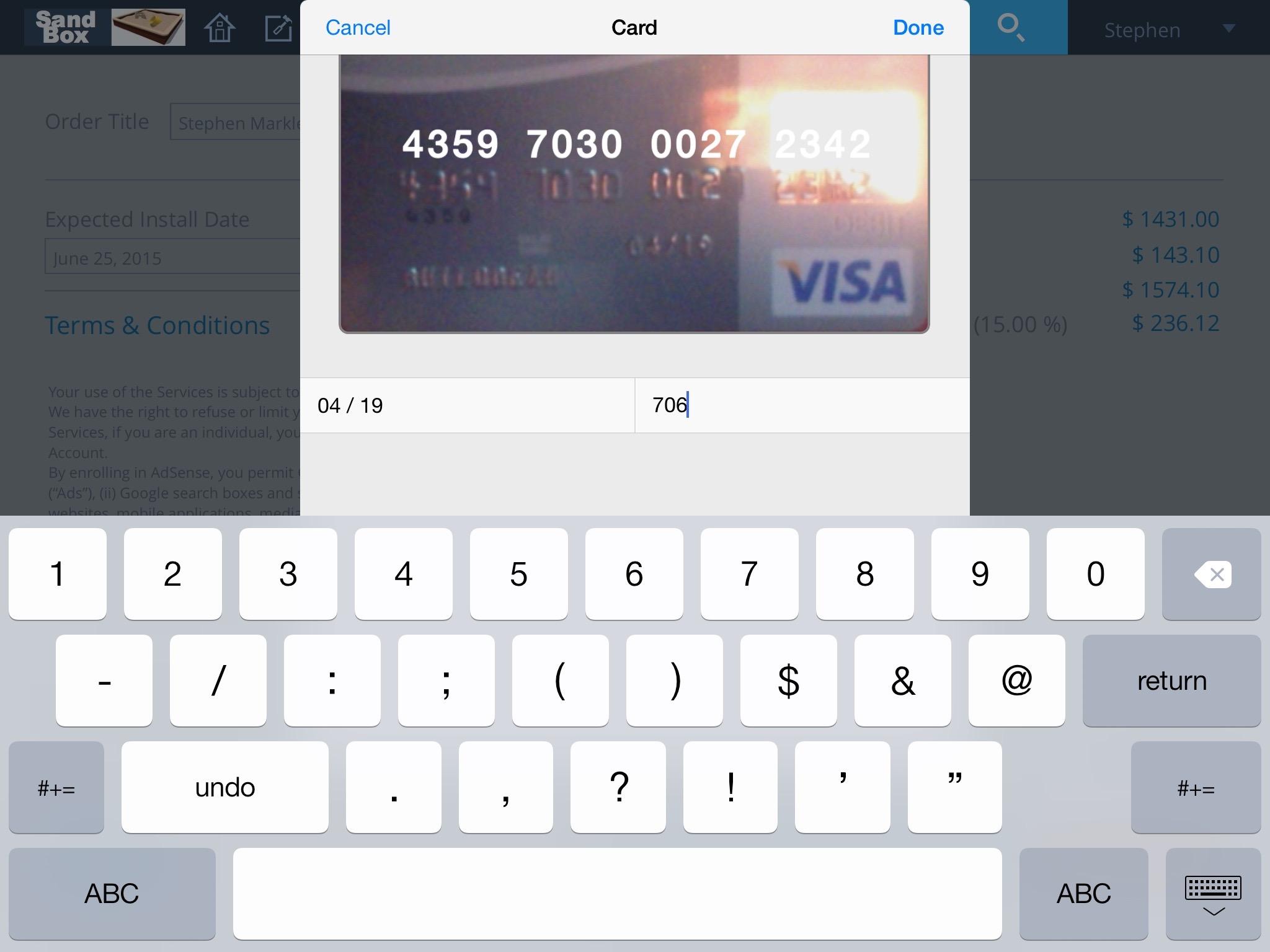 iPad card reader