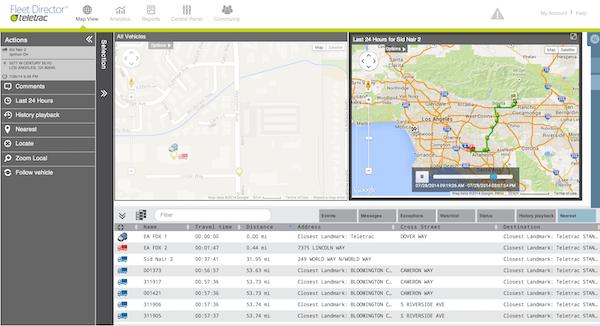 Fleet Director - Map View Tab