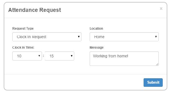 Attendance request