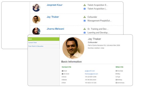 Employee profiles