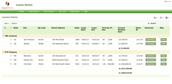 Lease management view