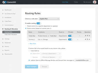 Routing rules