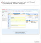 Oracle CRM On Demand - Integration with Outlook, Palm OS, IBM Lotus Notes