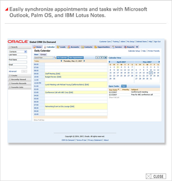 Integration with Outlook, Palm OS, IBM Lotus Notes