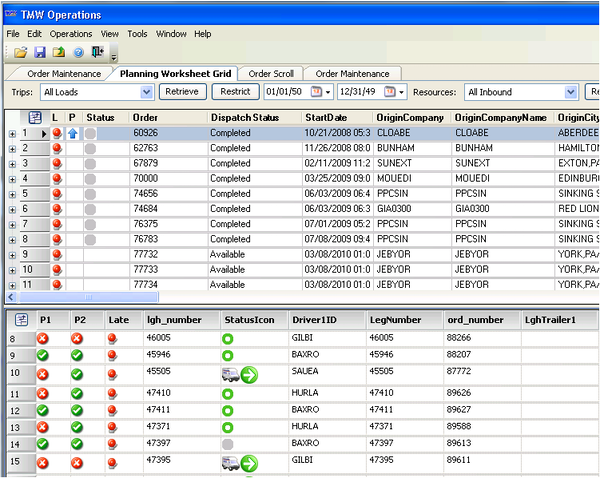 Load Planning and Management Tools