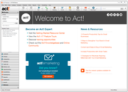 Act! - Act! - Welcome page