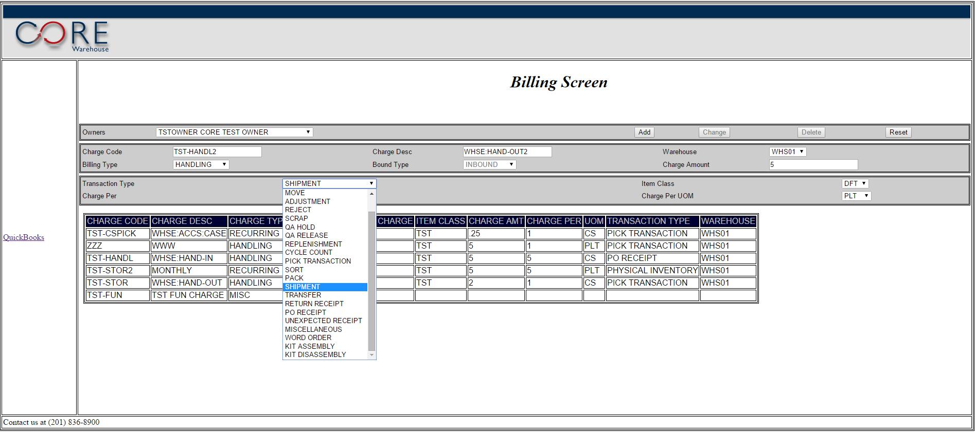 Billing Screen