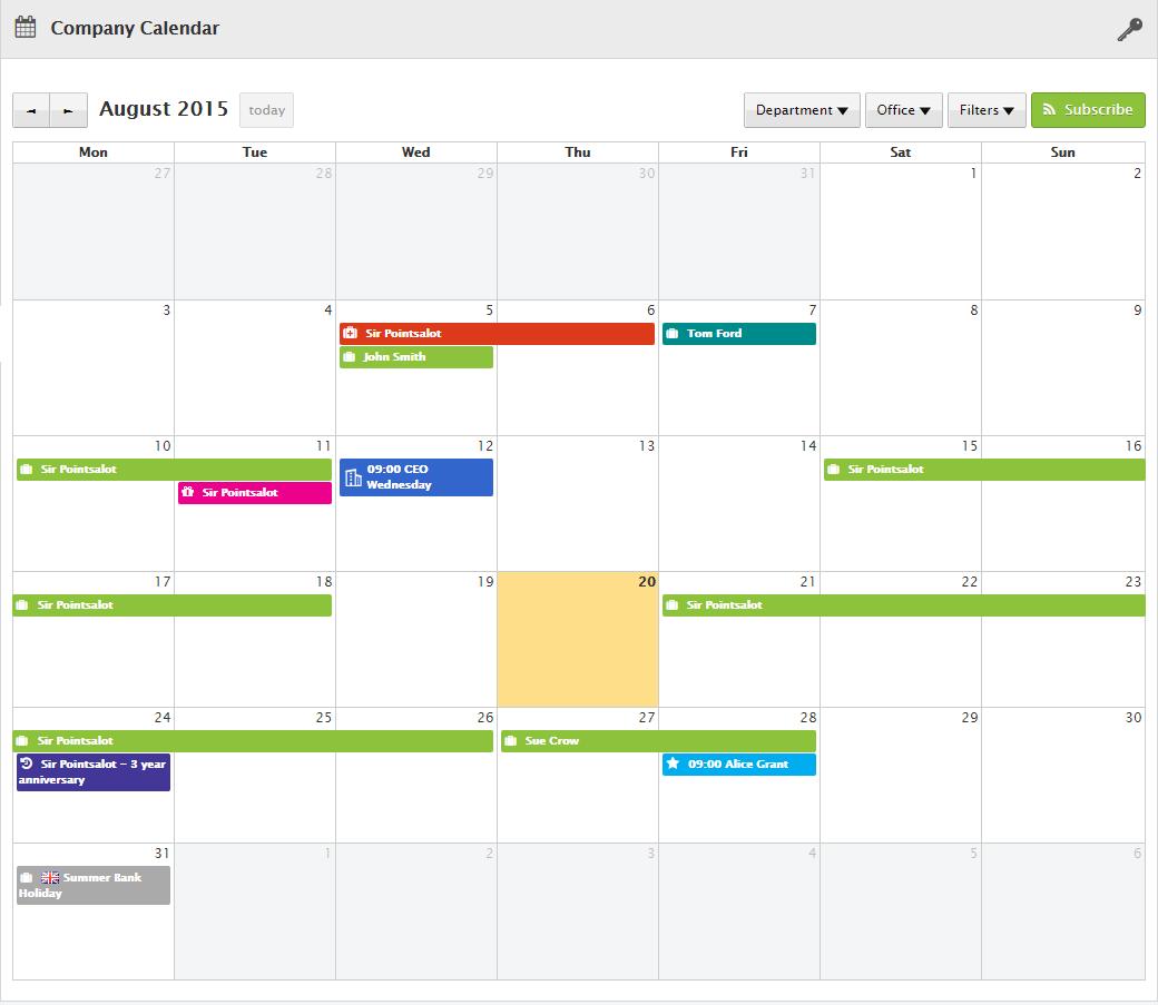 Integrated Calendar
