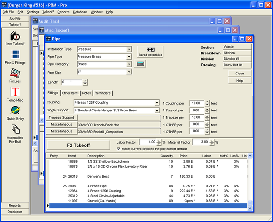 Plumbing Estimating Software
