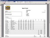 Work Ticket Report