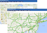 Private fleet movement traffic & weather overlay