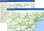 Private fleet movement traffic & weather overlay