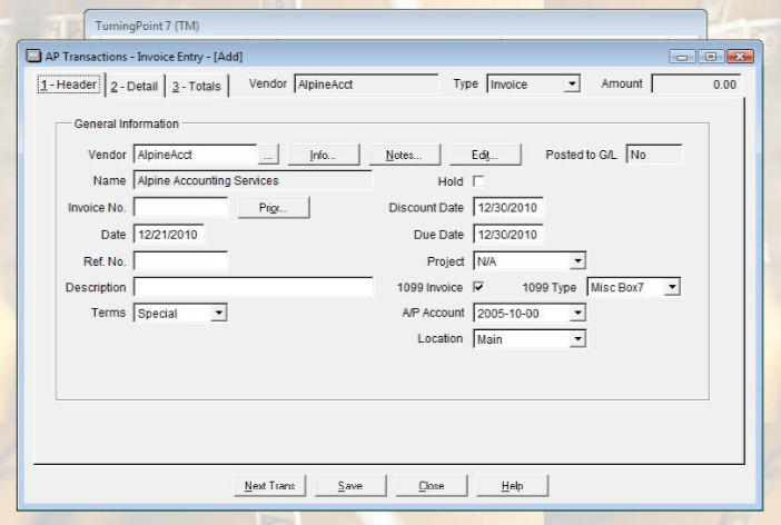 General ledger account inquiry