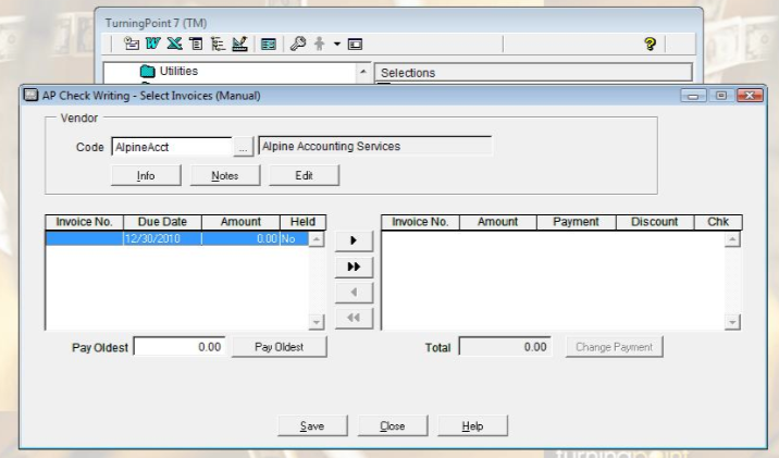 Select invoices