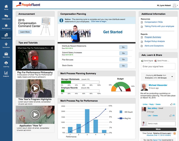 PeopleFluent Compensation Dashboard