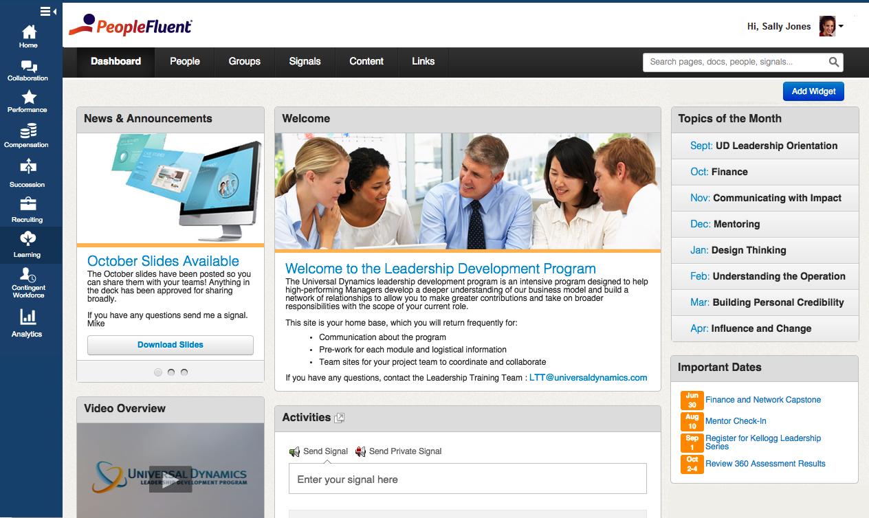 PeopleFluent LMS - Homepage