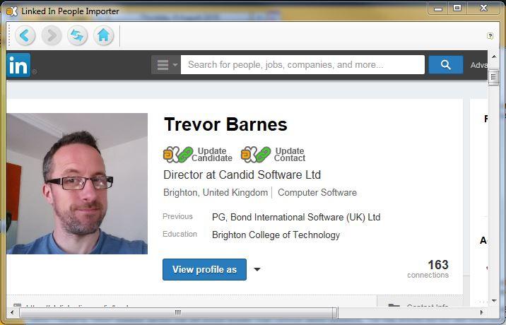 LinkedIn people importer