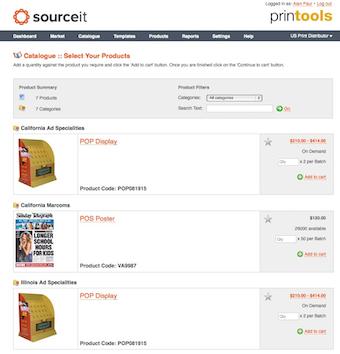 Supplier catalogue