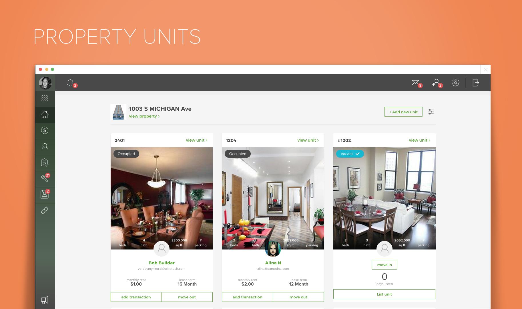 Property unit view