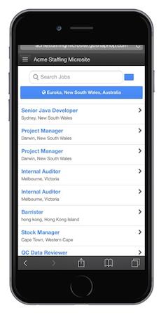 Mobile job listing