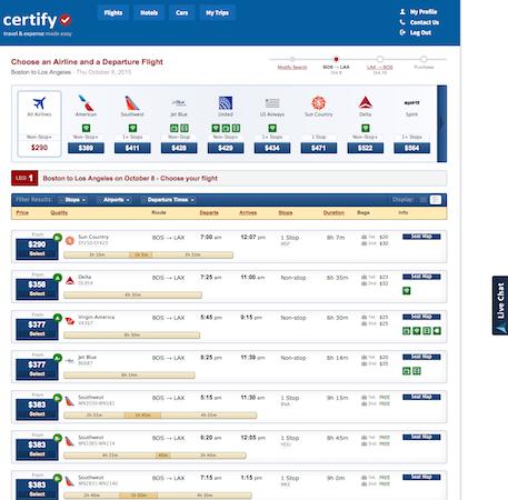 Certify's Integrated Travel Platform