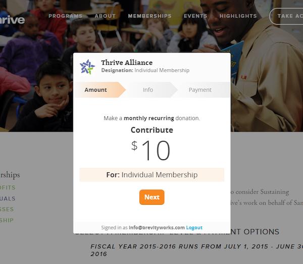 Donation processing