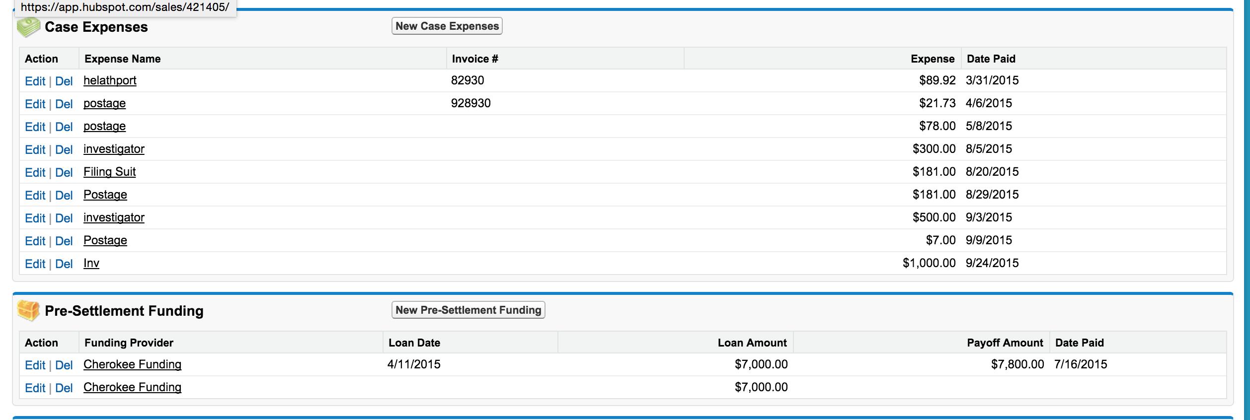 Case Expenses