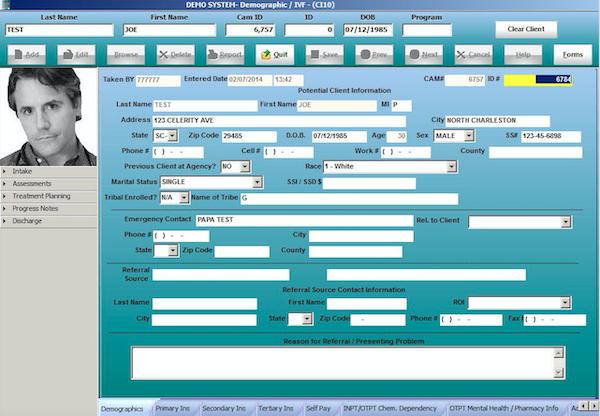 CAM by Celerity patient demographics