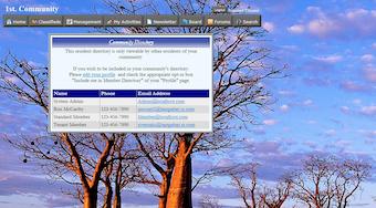 Directory screen