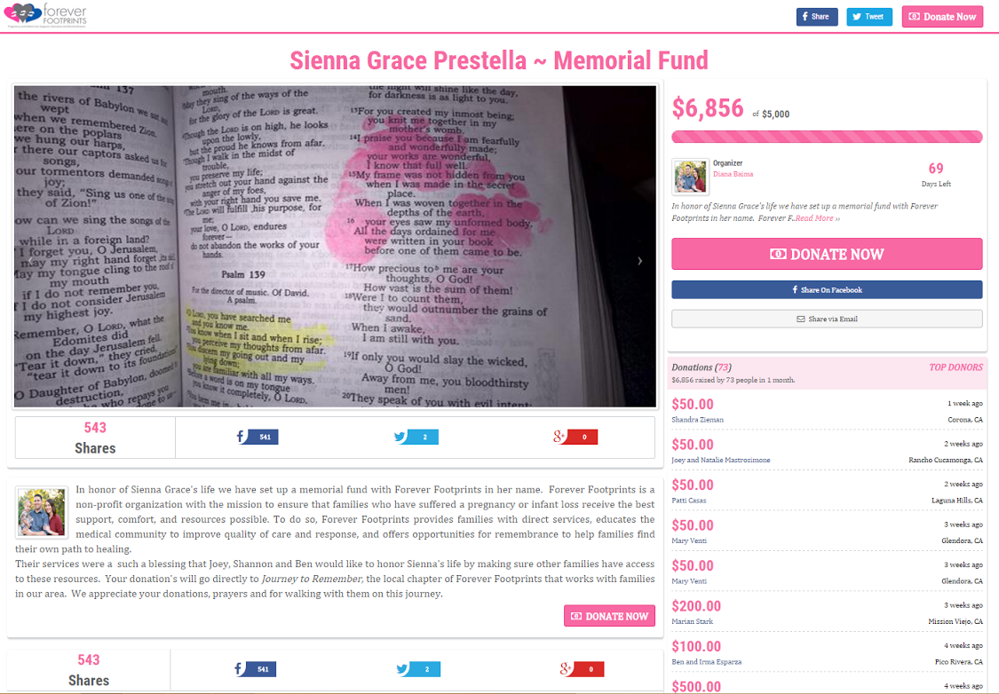 Create Fundraiser Pages