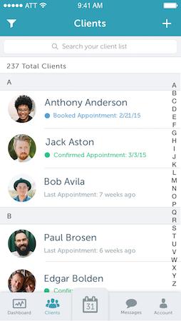 Mobile client list
