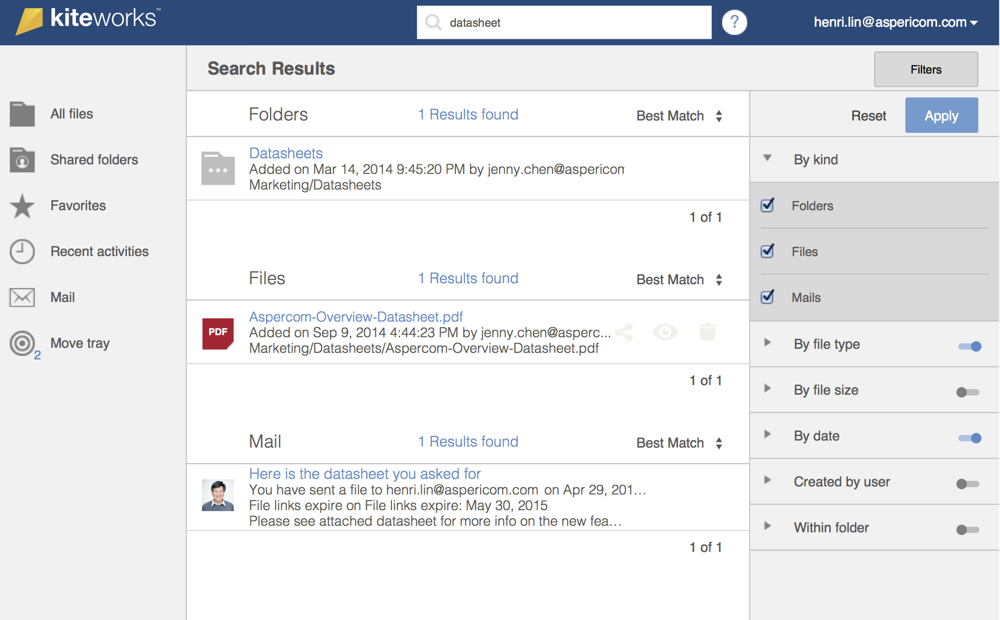 Search functionality by multiple factors