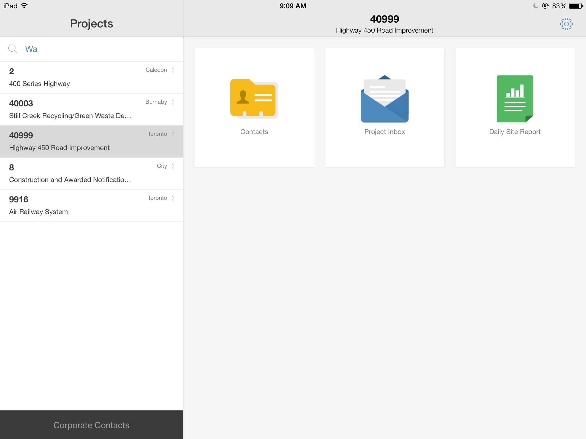 Mobile app modules