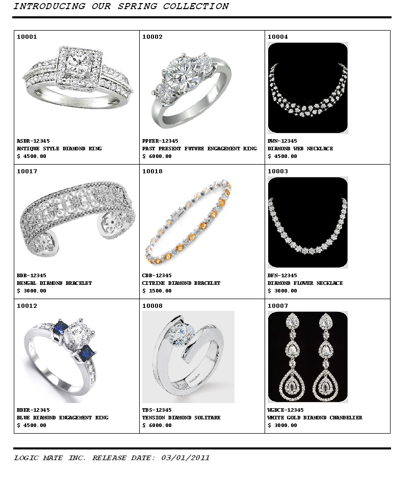 Catalog of Stock