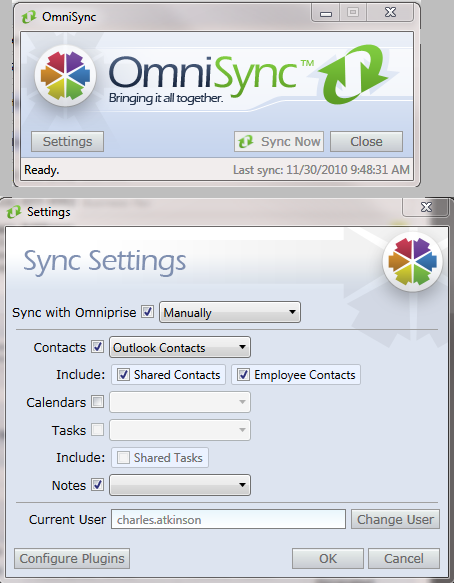 OmniSyn Syning OmnipriseCRM with Outlook