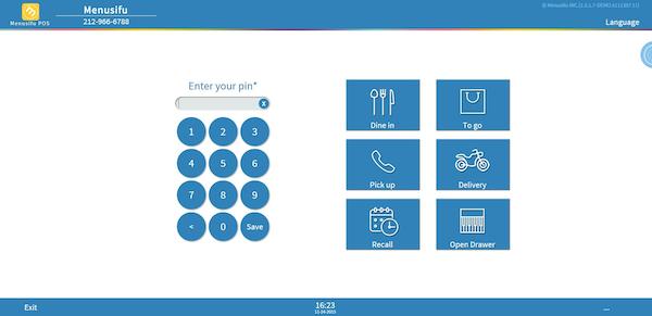 Menusifu POS System - POS interface