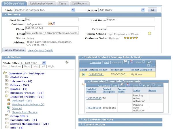Oracle PeopleSoft Enterprise HelpDesk - Dashboard
