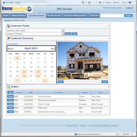 HomeDev Pro customer portal
