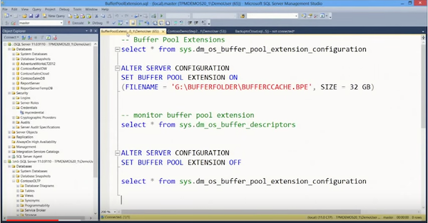 Buffer pool extensions
